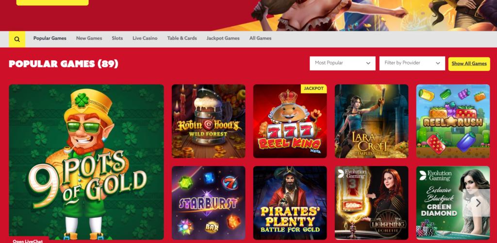 Funbet Casino Games